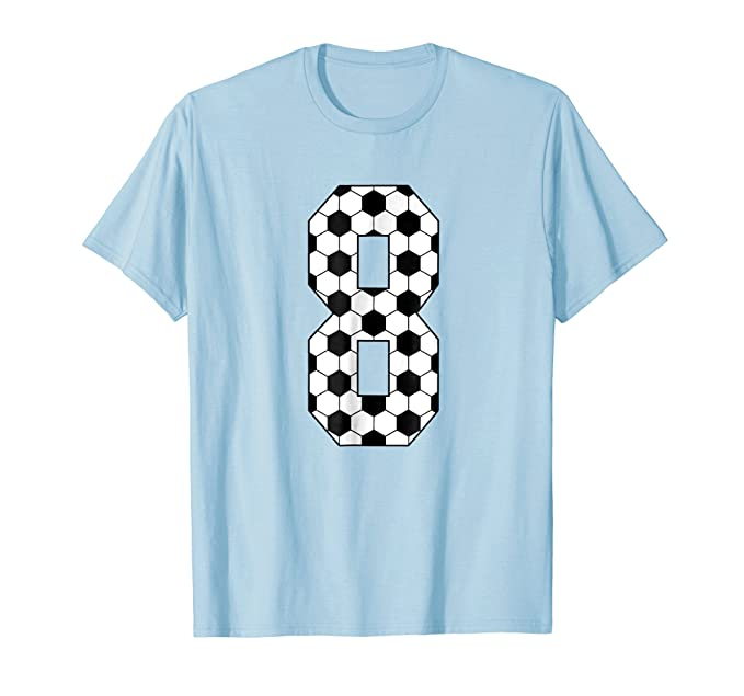 Mens 8 Soccer Mom 8th Birthday Party Eight Jersey T Shirt 2XL Baby Blue