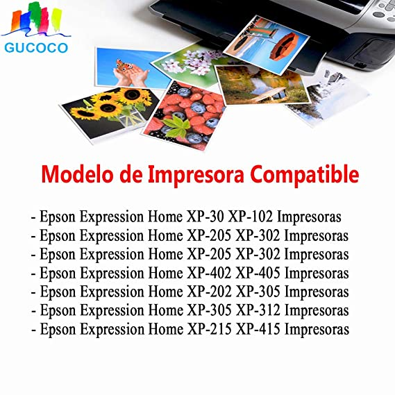 GUCOCO Compatible 18 XL Cartuchos de Tinta Reemplazo para Epson ...
