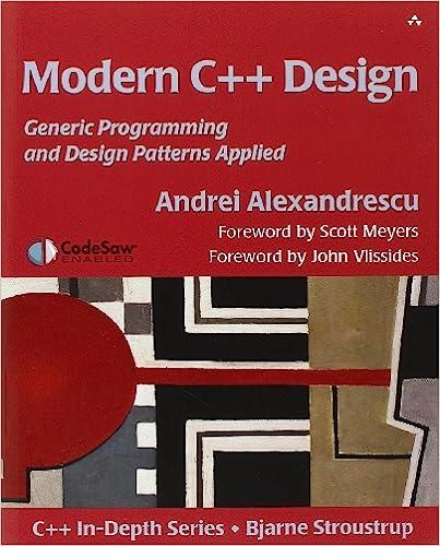 Amazon com: Modern C++ Design: Generic Programming and