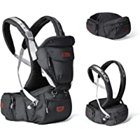 SUNVENO Baby Hipseat Ergonomic Baby Carrier Soft Cotton 6 in 1 Safety Infant Newborn Hip Seat for Home, Outdoor, Travel…