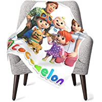 Cocomelon Blanket Super Soft Plush Warm Throw Blankets Cute Lightweight Blankets Good Prensent for Kids and Child Bed…