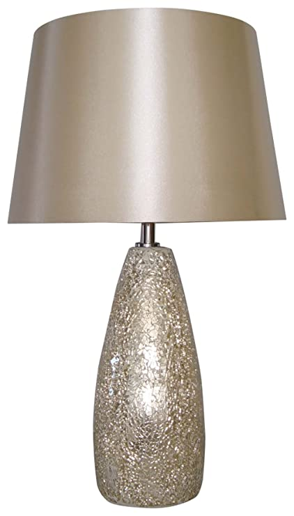 Amazon nu steel ls nl10048 champagne crackle glass table lamp nu steel ls nl10048 champagne crackle glass table lamp aloadofball Images
