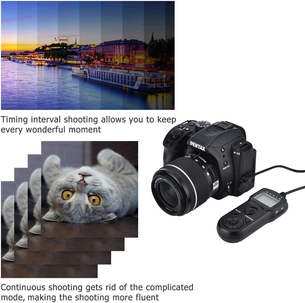 Digital Timer Remote Shutter Cord JJC Timer Shutter Release Remote Control Cord for Olympus E-M1 Mark II Replaces Olympus RM-CB2