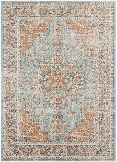 Luxe Weavers Kingsbury Collection Oriental 9×12 Blue Traditional Area Rug