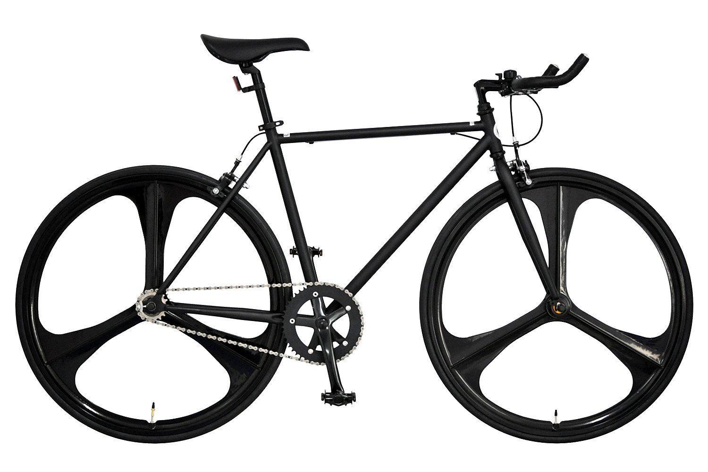 ANIMATO(アニマート) クロスバイク ピストバイク PHANTOM 1年保証 B07DTB1Q5J マットブラック マットブラック