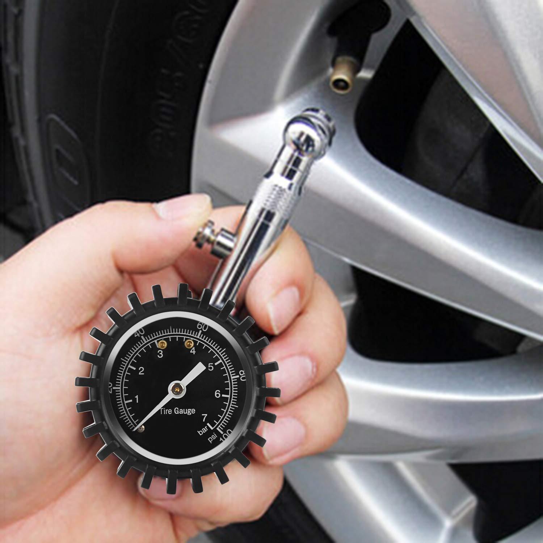 LKW f/ür Auto Forever Speed Reifendruckpr/üfer Digital//Reifendruckmesser Auto,mit 360-Grad-Drehfunktion und gro/ßer Anzeige Motorrad
