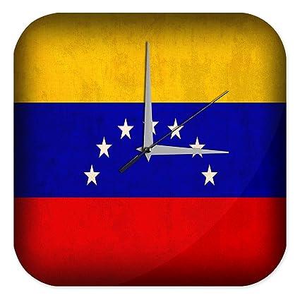 Reloj De Pared Aventurero Decoración Bandera de Venezuela Plexiglas