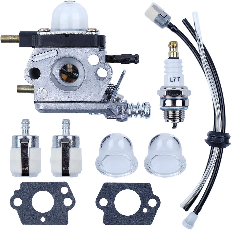 Haishine Kit ampoule damorce de filtre de conduite de carburant de carburateur pour Zama C1U-K54A motoculteur Mantis 7222 Echo 12520013123 motoculteurs