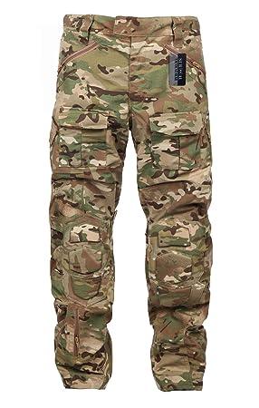 ZAPT - Pantalones tácticos de Combate con Protector de Rodilla ...
