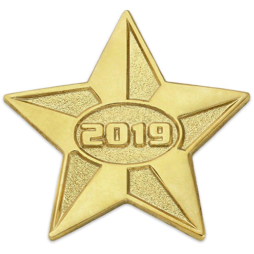 PinMart 2019 Year Gold Star Class of School Graduation Lapel Pin