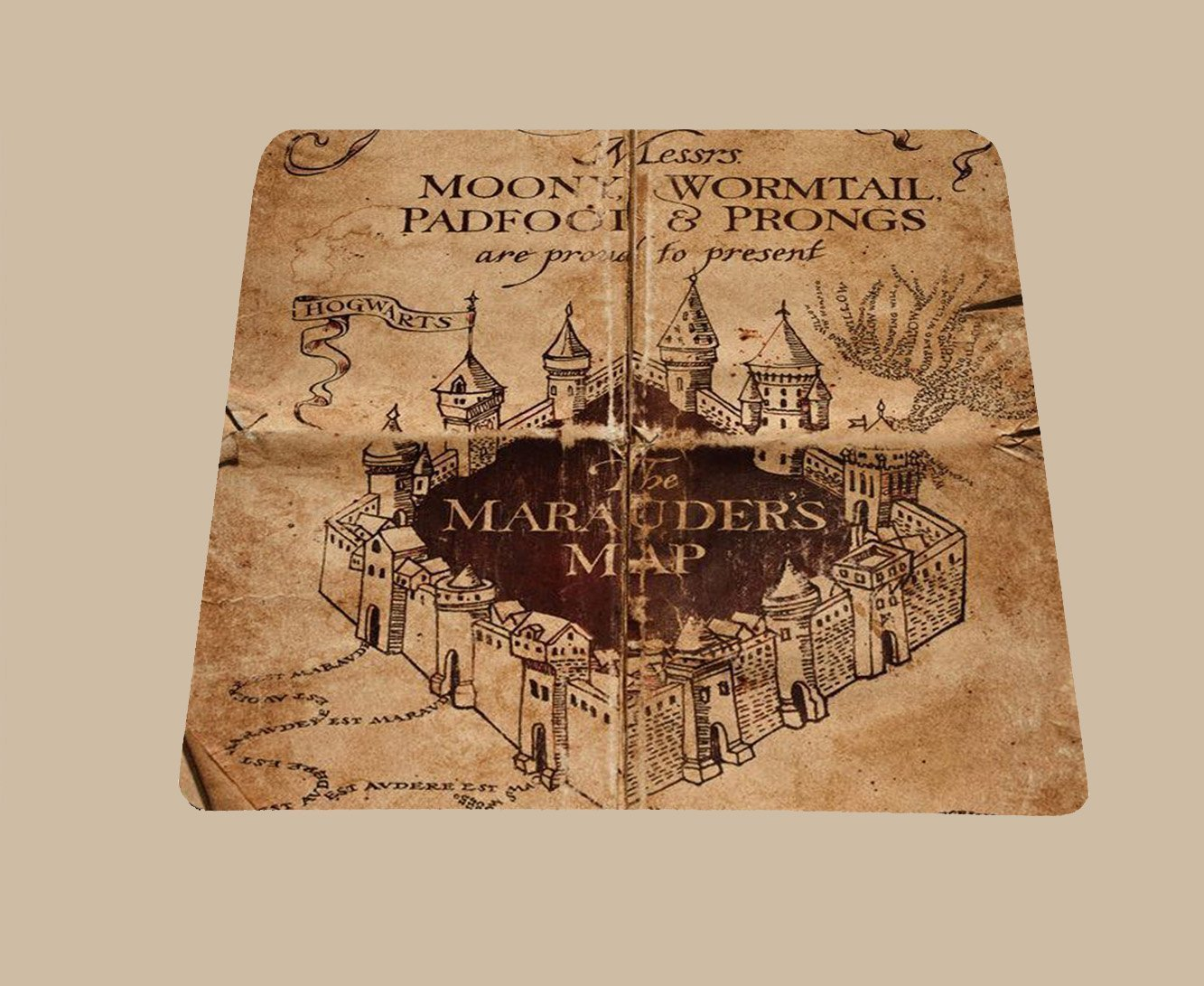 Amazon com harry potter inspired marauders map mousepad mouse pad computers accessories