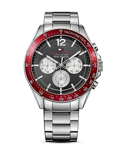 Tommy Hilfiger Hombre Reloj de Pulsera analógico Cuarzo Piel 1791122: Tommy Hilfiger: Amazon.es: Relojes