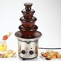 Aoher Chocolate Fountain,4 Tiers Mini Stainless Steel Fondue Waterfall Melting Machine Kitchen Appliance