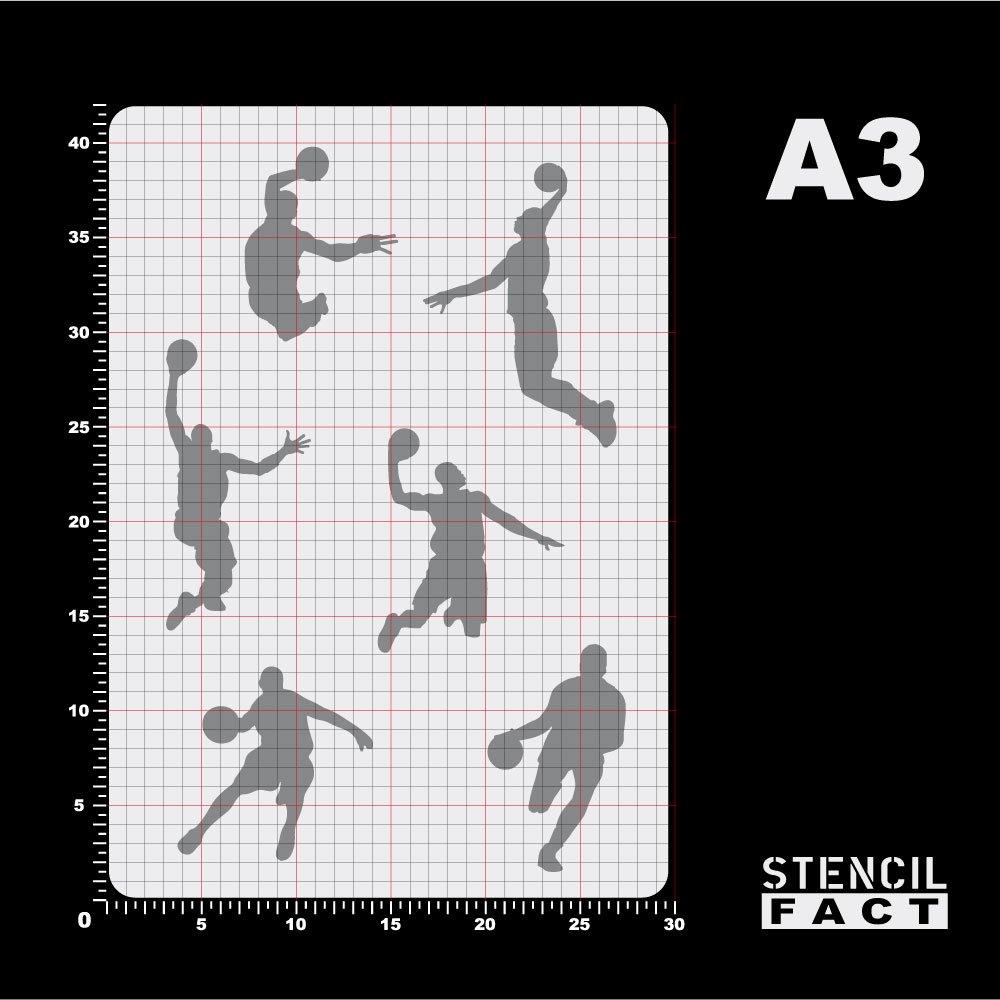 BA17 Schablone Basketball 6 Feldspieler