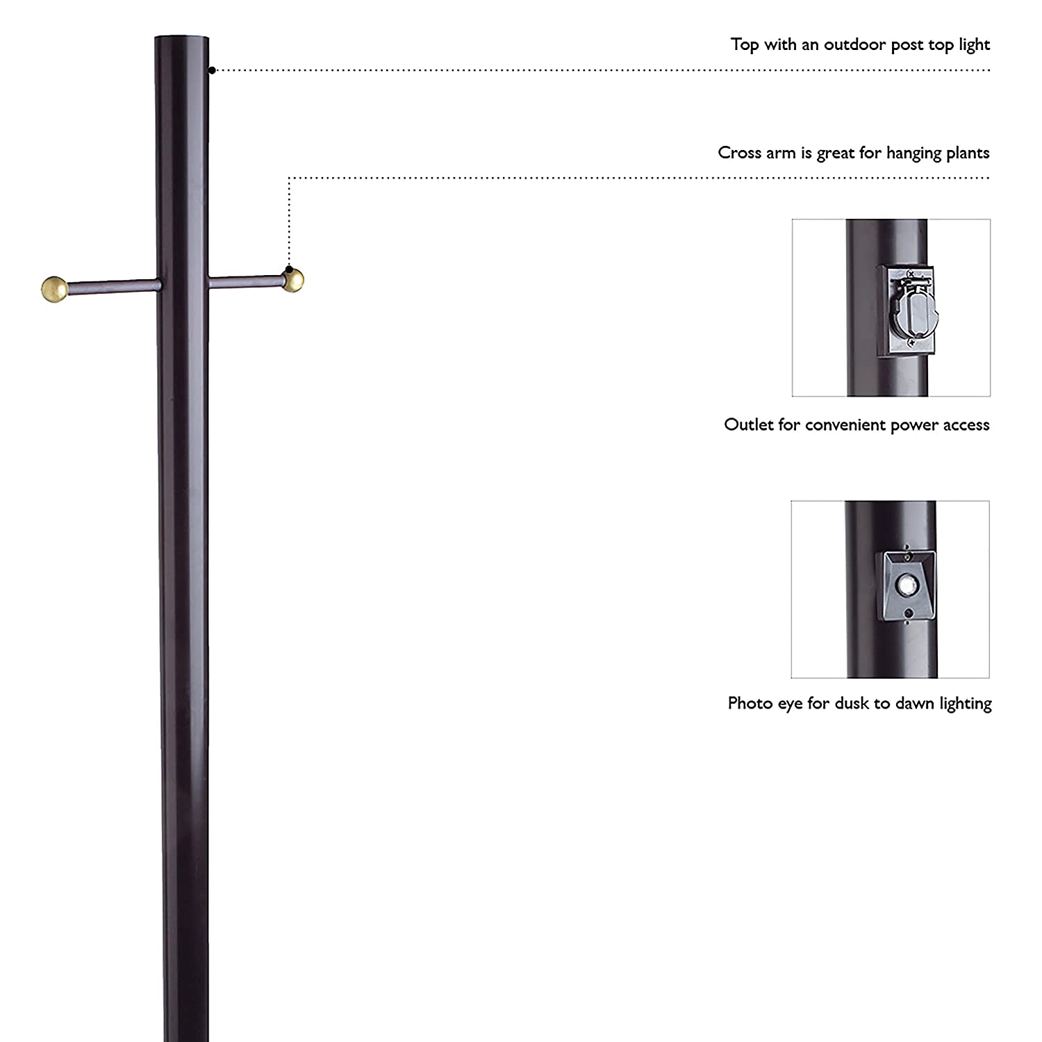Outdoor Light Post With Outlet Amazon design house 501817 80 inch lamp post black home amazon design house 501817 80 inch lamp post black home improvement workwithnaturefo