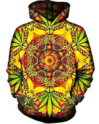 Chiclook Cool 3D Hoodies Psychedelic Weed Men Women 2018 Long Sleeve Autumn Hooded with Hat Sudaderas