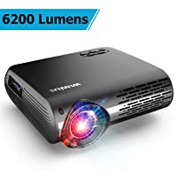 Deals on WiMiUS Upgrade 6200 Lumens Native 1920x1080 Video Projector