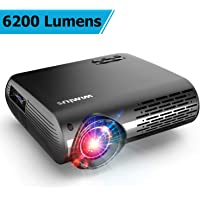WiMiUS Upgrade P20 Full HD 1080p 6200-Lumens LED Business and Education Projector