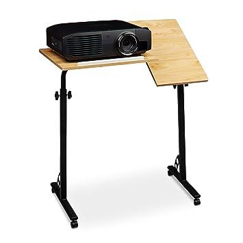 Relaxdays - Atril para ordenador portátil, madera de caoba, 110 x 80
