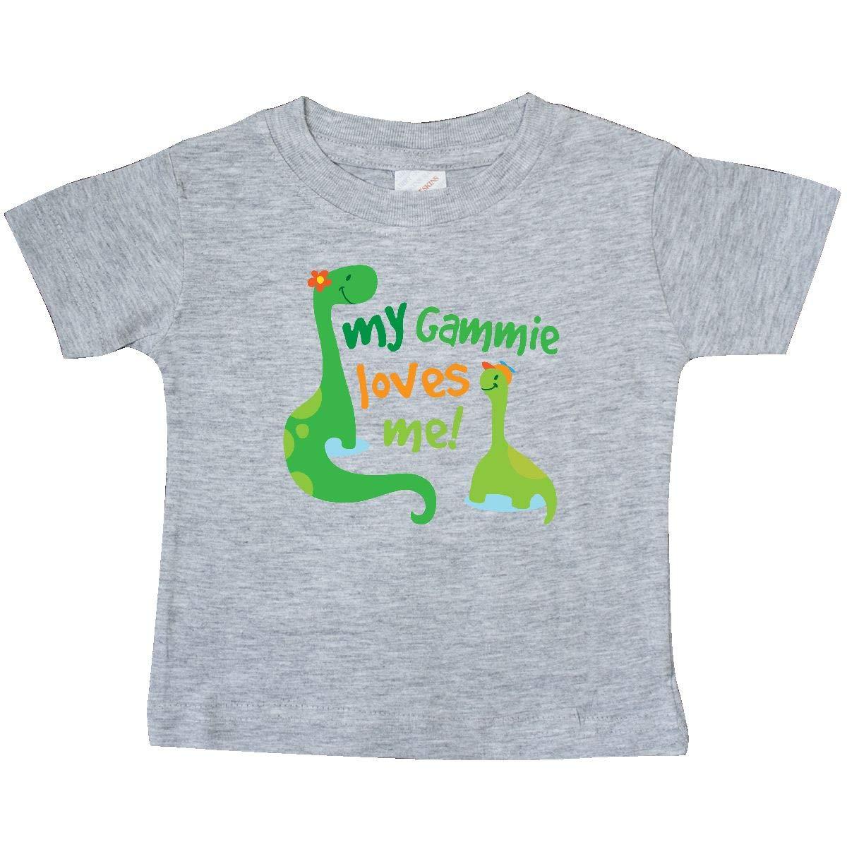 inktastic Gammie Loves Me Grandson Dinosaur Baby T-Shirt