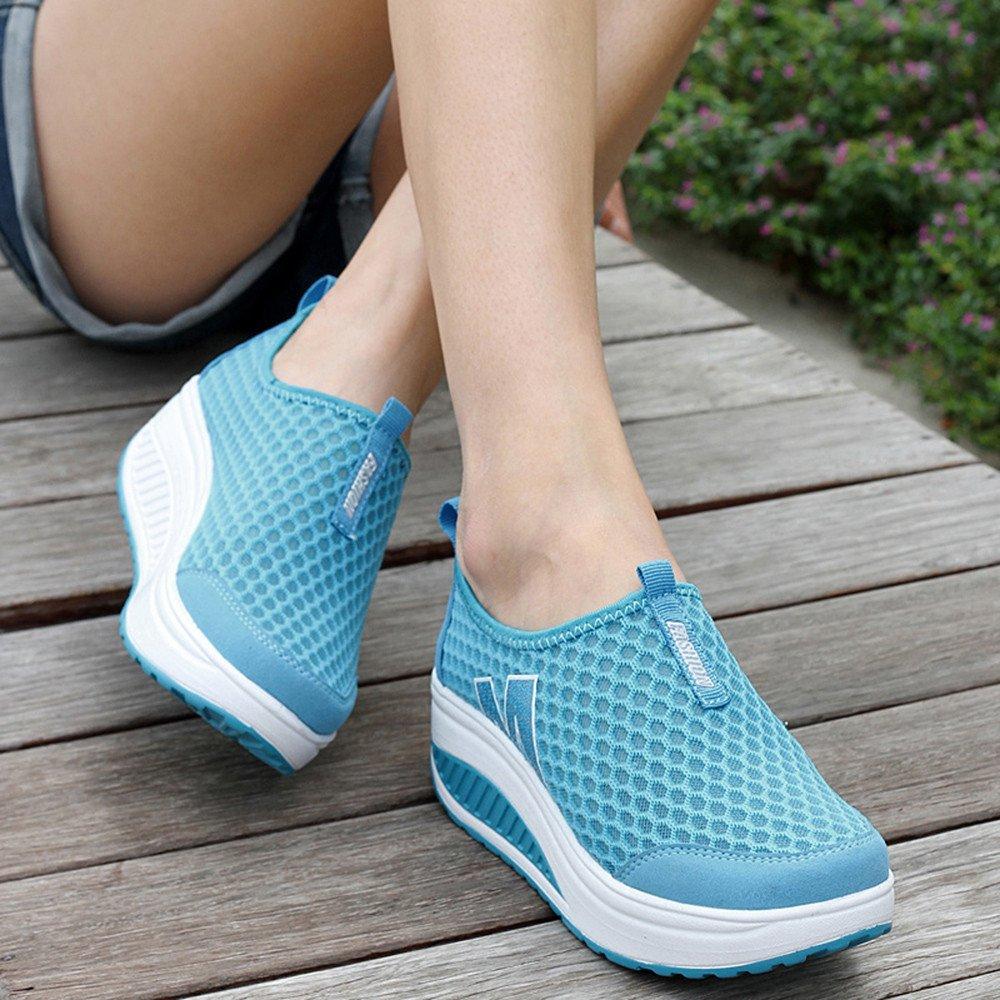 BBestseller-Zapatos Running Zapato de mujer plataforma de las mujeres de la manera mocasines de las mujeres zapatillas de deporte transpirables de malla de ...