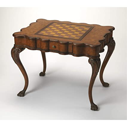 Amazon Com Butler Specialty Company Game Table Brown Kitchen Dining