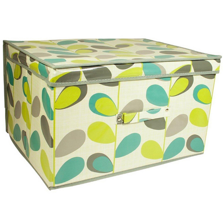 Kids Folding Storage Chest (20 x 12 x 20 inch) (Leaf Brown)