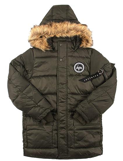 52afa63fd HYPE Explorer Kids Parka Jacket - Khaki: Amazon.co.uk: Clothing