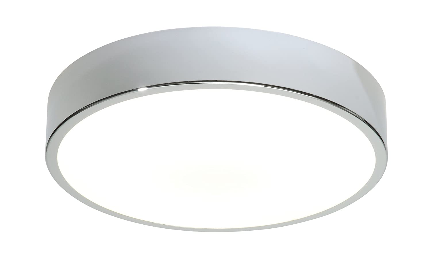 Poole Lighting Spa 28w GR10q 2D 4 Pin Bathroom Flush Light Chrome Plate IP44