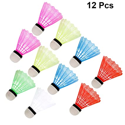 Shuttlecock 12 PCS Feather Badminton with Great Stability Durability High-Speed Badminton Birdies Balls for Outdoor Indoor Activity
