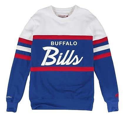 0e7ce712 Amazon.com : Mitchell & Ness Buffalo Bills Head Coach Crew Sweater ...