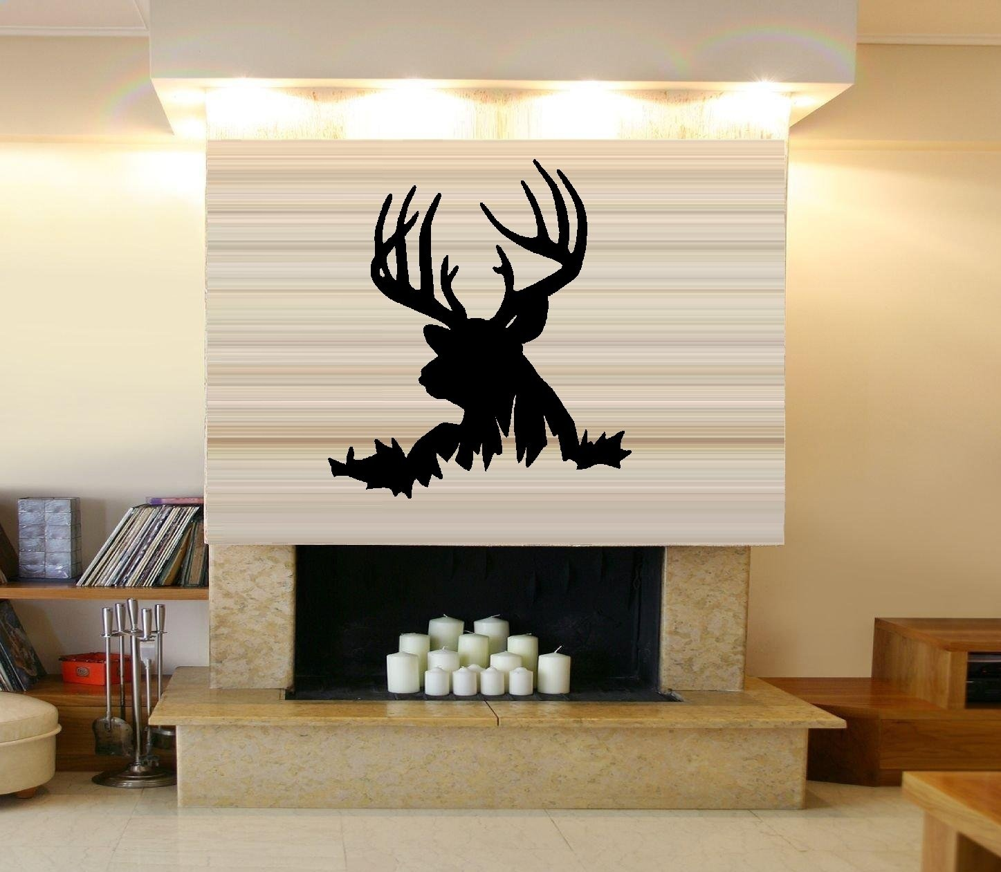 Buck deer head wall decal home decor 21 x 215 other buck deer head wall decal home decor 21 x 215 other products amazon amipublicfo Gallery