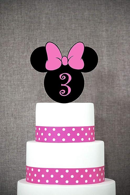 Decoración para tarta de cumpleaños con diseño de Minnie ...