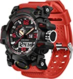 Mens Tactical Digital Sports Watch, Tactics Military Dual Time Army Wristwatch, LED Back Light Calendar Day Date 12H/24H…