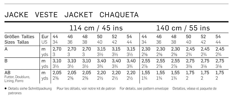 Burda Patrón de costura 6993 - Classic & Deportivo tallas: 44 - 54 ...