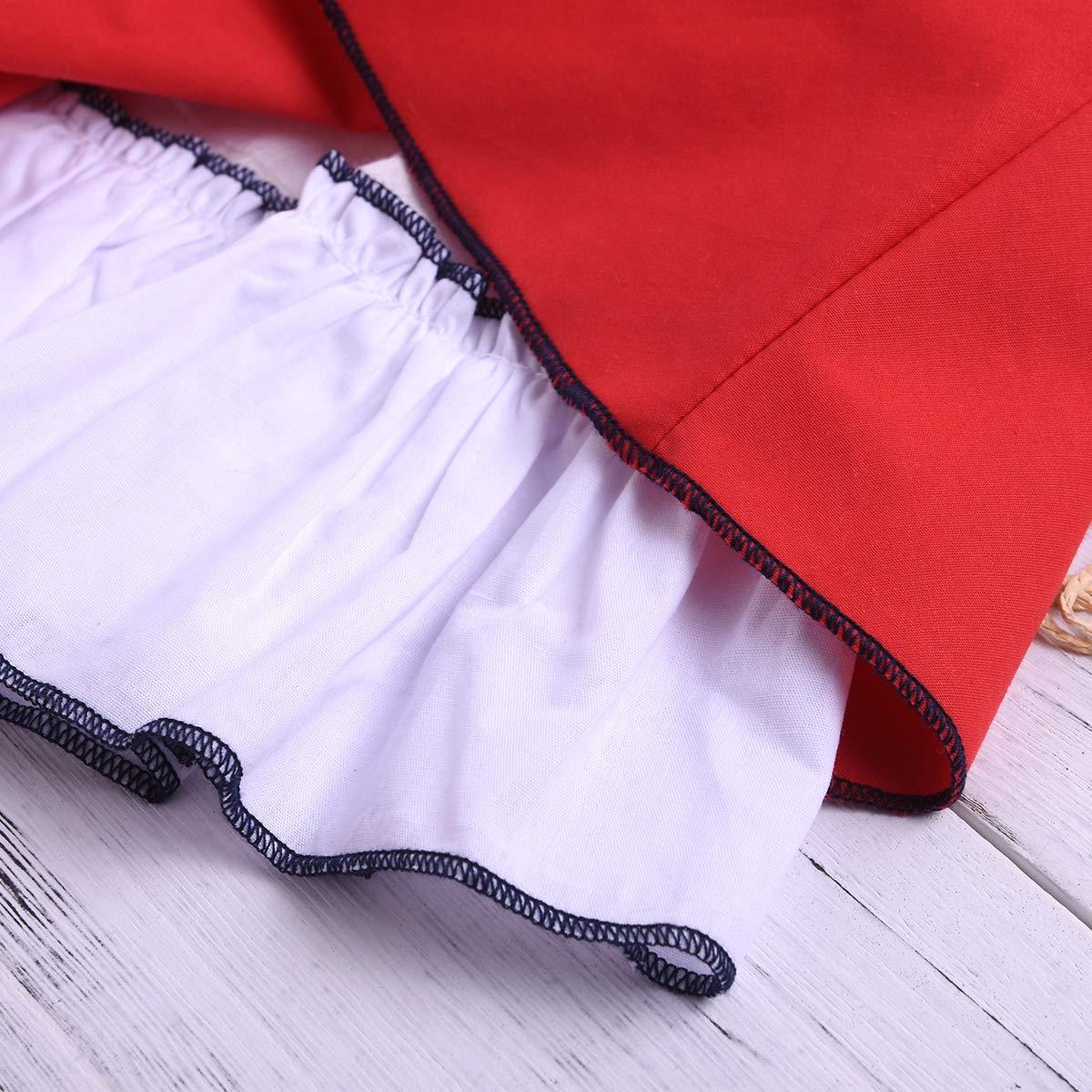Falda sin Mangas roja del Mono del Traje del Mono de la ni/ña con Pantalones Cortos Pantalones 2 Ropa de los ni/ños