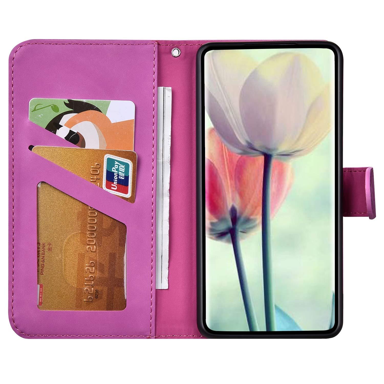 Surakey Cover per Huawei Y6 2018,Custodia Flip PU Pelle per Huawei Y6 2018 Libro Portafoglio Wallet Case con Porta Carte,Goffratura Elefantino,Funzione Supporto,Antiurto TPU Bumper,Blu