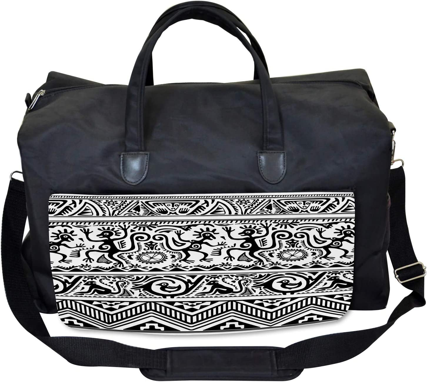 African Cave Drawings Ambesonne Tribal Gym Bag Large Weekender Carry-on