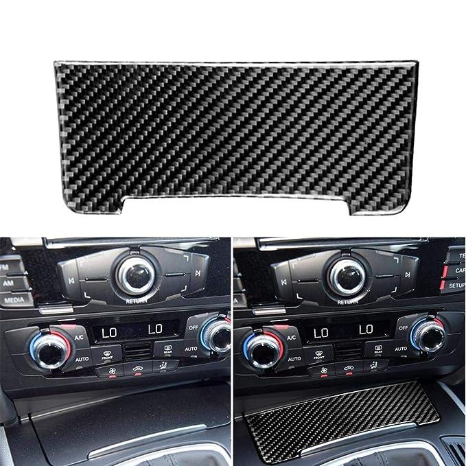 Etiqueta engomada Interior de la Cubierta del Almacenamiento de la Etiqueta engomada del Coche de la Fibra de Carbono para 2010-2018 Audi Q5 para ...
