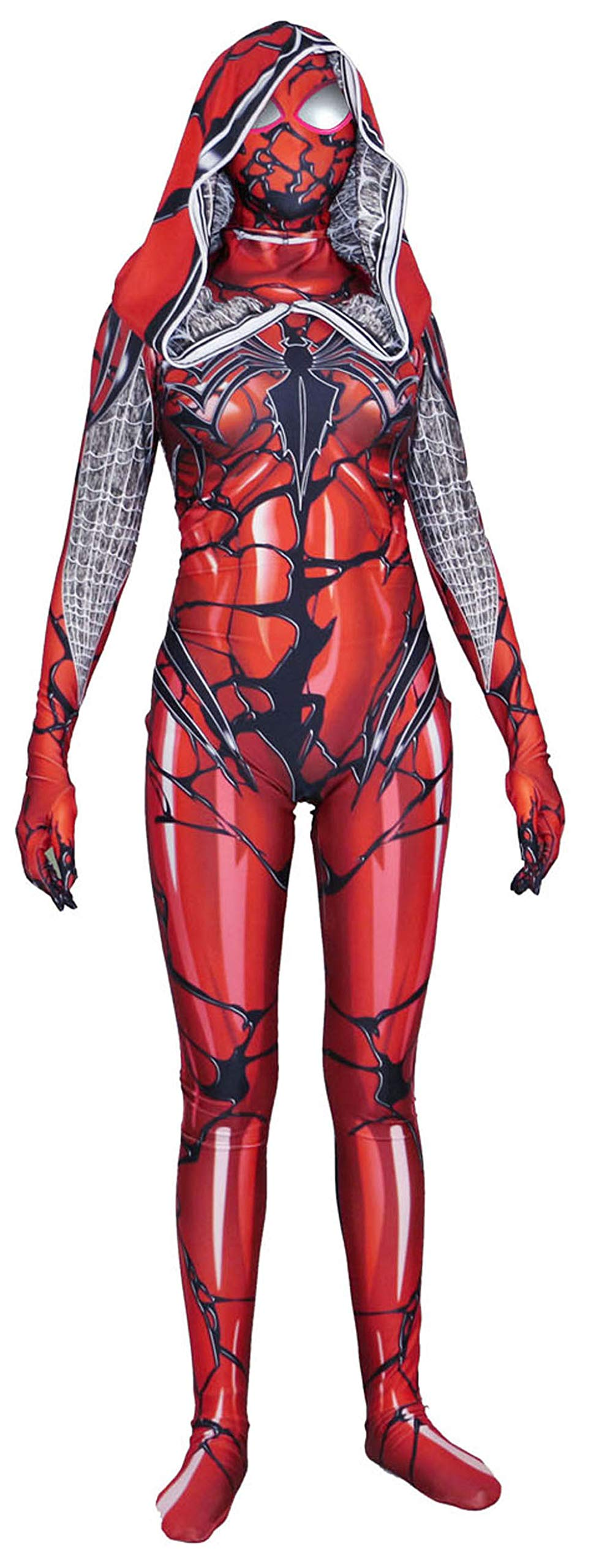 - 71Xn8FC IuL - Riekinc Womens Superhero Zentai Suits Halloween Cosplay Costumes 3D Style Audlt/Kids