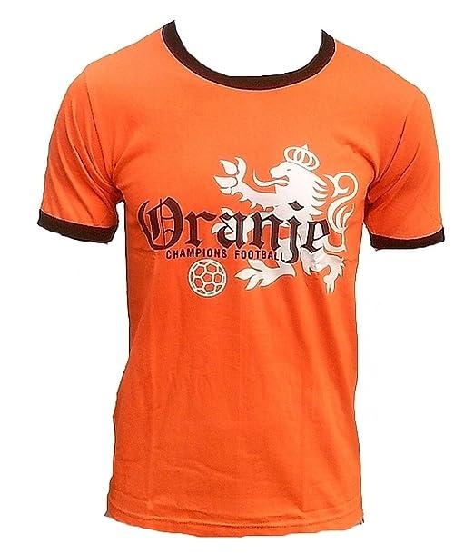 TICILA - Camiseta para Hombre Oranje Holland Designer Classic Dutch Países Bajos Netherlands Champion Football Fútbol WM EM Fan tee Camiseta Naranja: ...