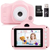Kids Camera, Seanme 3.5 Inch Digital Camera with Dual Lens HD Child Video Camcorder Rechargeable Children Selfie Camera…