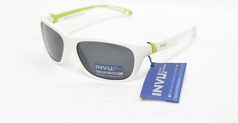 INVU - Gafas de sol polarizadas para niño K 2411 B, color blanco ...