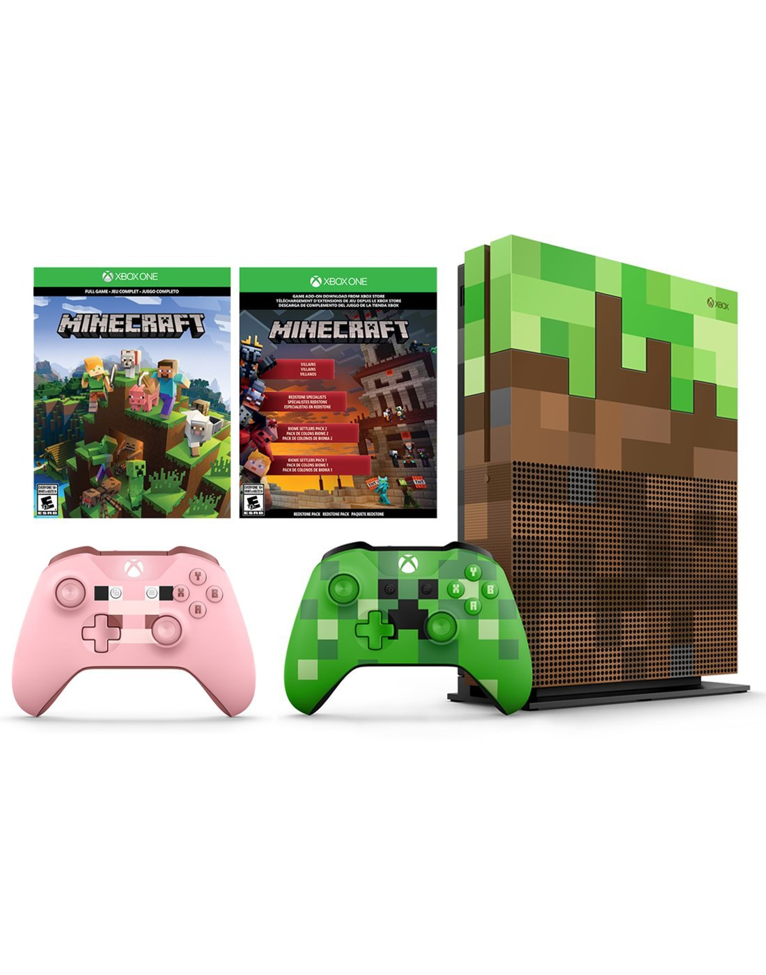 Xbox One S Minecraft Limited Editon 1tb Console And Switch Overcooked 2 English Pal Games Extra Edition Pig Wireless Controller Bundle Electronics