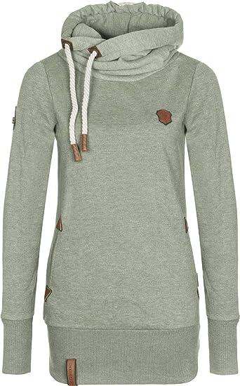 Naketano Chasin the cat W hoodie amazing grey melange