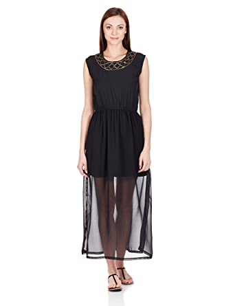 The Closet Label Women's Silk A-Line Dress Dresses at amazon