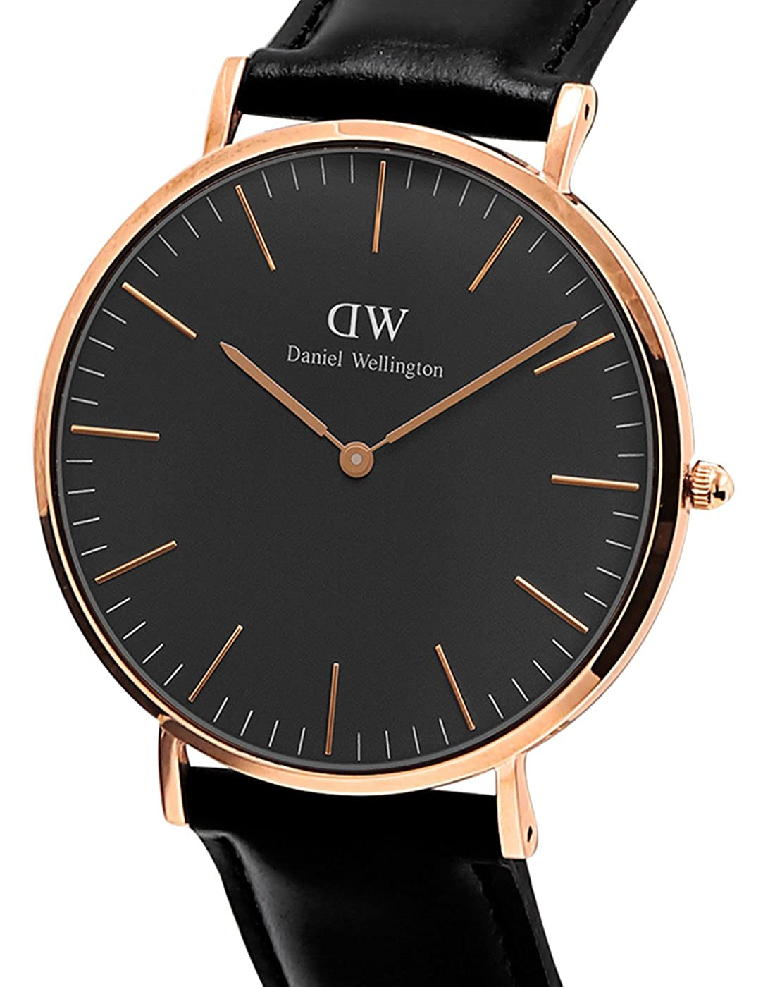 f6d8385a17856 Amazon.com  Daniel Wellington Classic Black Sheffield 40mm  Daniel  Wellington  Watches