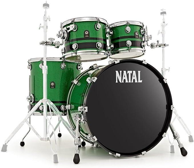 Natal KTW-UF22-GBK1 Cafe Racer - Juego de funda para batería, color verde y negro: Amazon.es: Instrumentos musicales