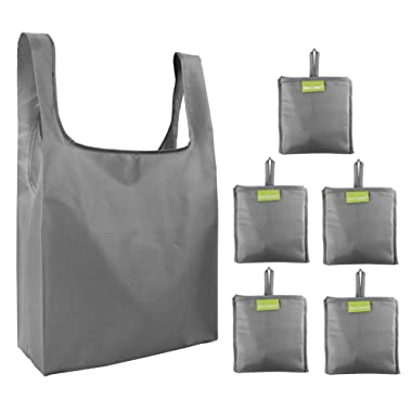 Folding-Reusable-Grocery-Bags-Shopping-bag with Pocket Folded Groceries Compact Bags for Shopper Gifts Travel Washable Bulk