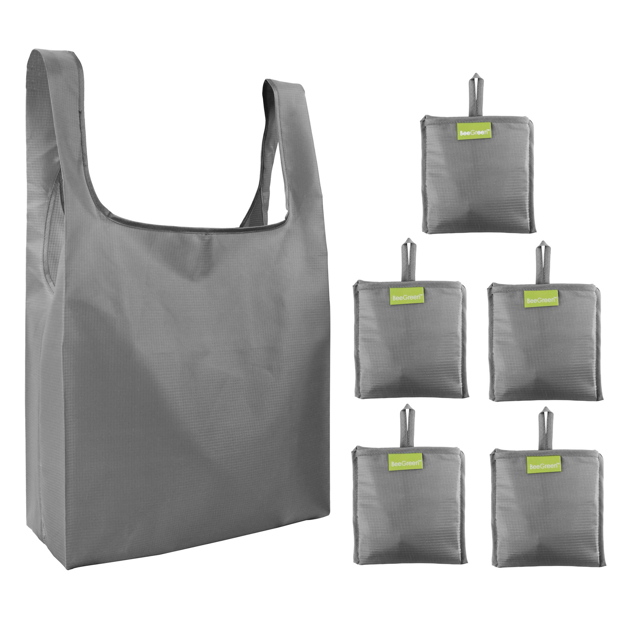 205ec6971593 Folding-Reusable-Grocery-Bags-Shopping-bag with Pocket Folded Groceries  Compact